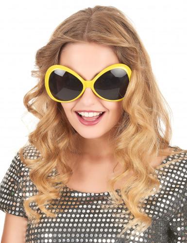 Große Disco-Brille in Gelb-1
