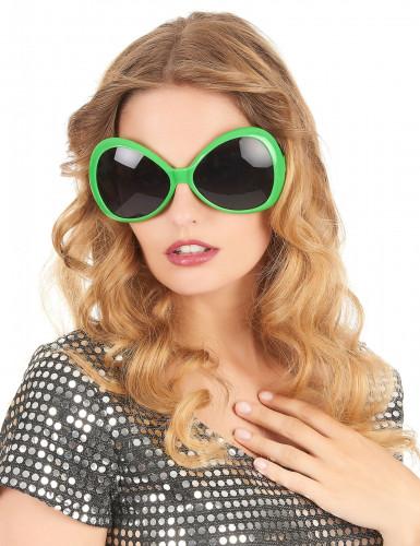 Disko-Brille für Erwachsene in Grün-1