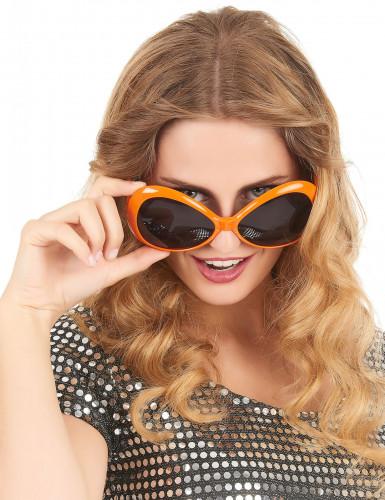 Brille für Erwachsene in Orange mit getönten Gläsern-1