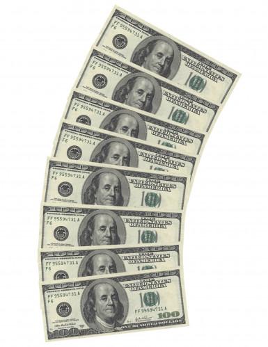 10 Papierservietten Dollarscheine