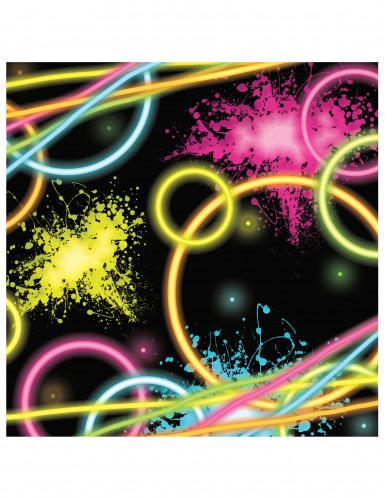 16 Servietten - Glow Party