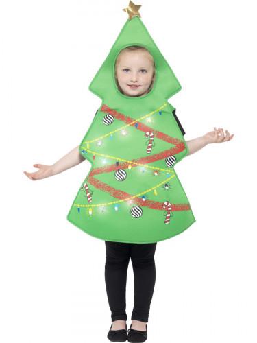 Leuchtendes Weihnachtsbaum Kostüm für Kinder-1
