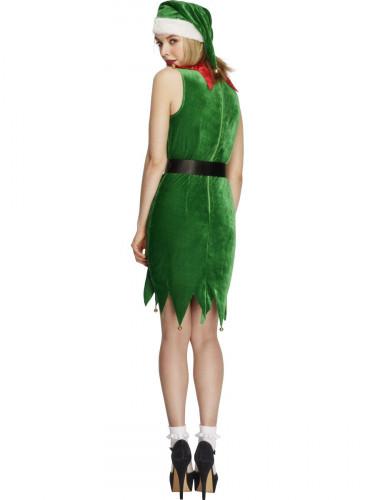 Weihnachtselfe Kostüm für Damen-1