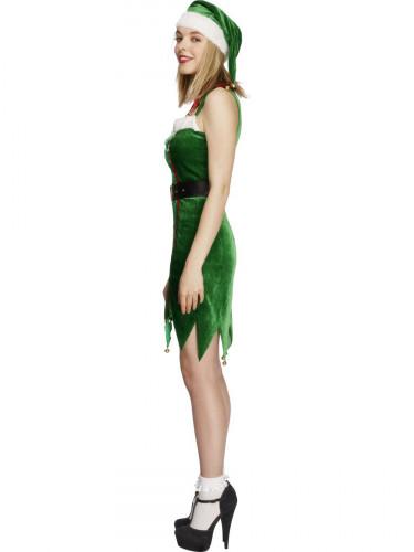 Weihnachtselfe Kostüm für Damen-2