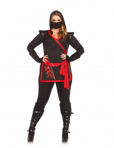 Ninja Kostüm in Übergrösse für Damen