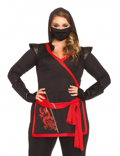 Ninja Kostüm in Übergrösse für Damen-1