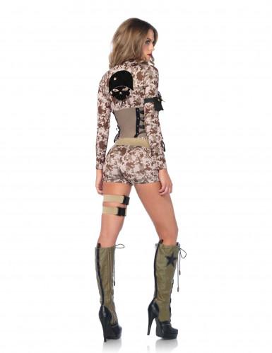 Sexy Soldatin Pixel Damenkostüm-1