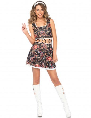 Schickes Hippie-Kostüm für Damen-1