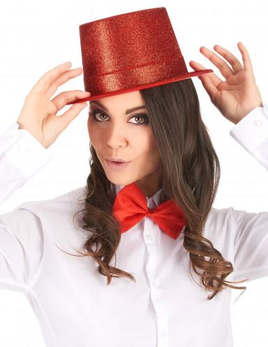 Party-Hut mit Glitzer für Erwachsene rot-1