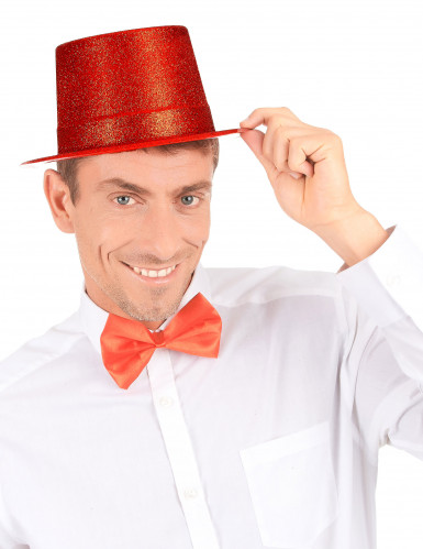 Party-Hut mit Glitzer für Erwachsene rot-2