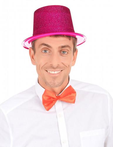 Glitzernder Party Zylinder für Erwachsene pink-2