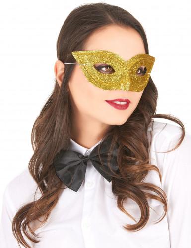 Glitzer-Maske für Erwachsene gold