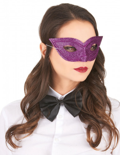 Venezianische Maske für Erwachsene lila