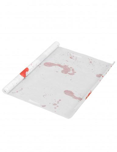 Weißer blutverschmierter Teppich-2