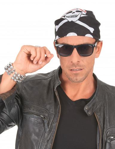 Pirat Totenschädel Bandana für Erwachsene-2
