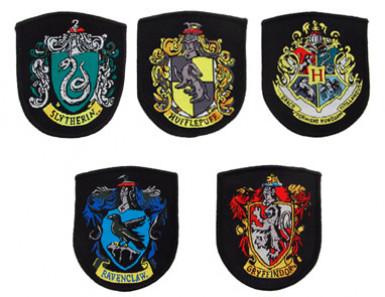 Set Hogwarts-Wappen Aufnäher Harry Potter™