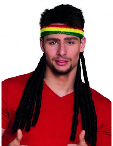 Rasta Stirnband mit Dreadlocks für Erwachsene