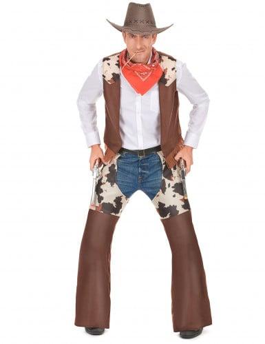 Western Cowboy-Kostüm für Herren braun-weiss