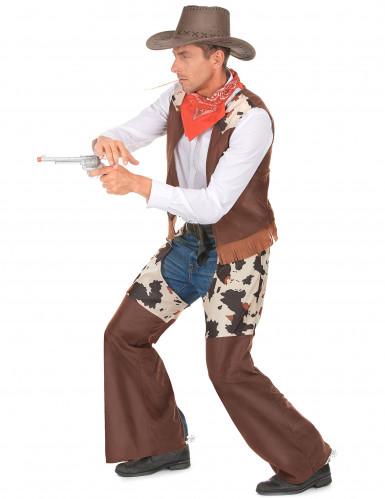 Western Cowboy-Kostüm für Herren braun-weiss-1