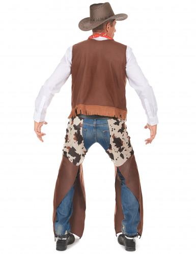 Western Cowboy-Kostüm für Herren braun-weiss-2