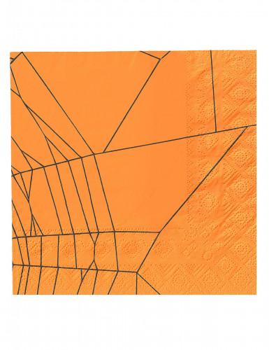 20 Halloween-Servietten aus Papier mit Spinnen-Motiv-1