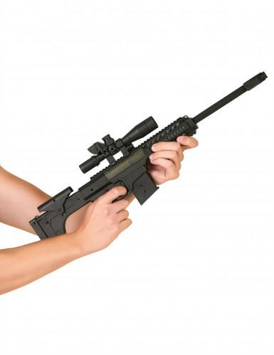 Maschinengewehr für Kinder mit Sound Spielzeug schwarz-1