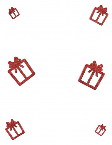 6 glitzernde Deko-Geschenke rot-1