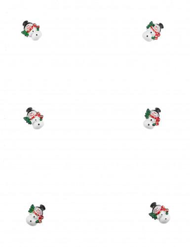 6 Schneemänner Weihnachtsdeko zum Aufkleben 3 cm-1