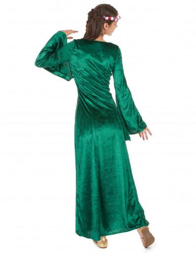 Grünes Mittelalter-Kostüm für Damen-2