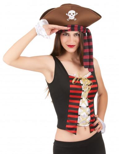 Piratenkorsage und Armstulpen für Damen