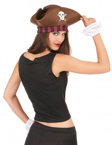 Piratenkorsage und Armstulpen für Damen-1