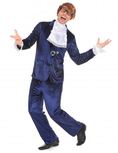 Kostüm durchgeknallter Spion blau