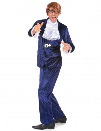Kostüm durchgeknallter Spion blau-1