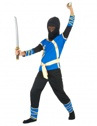 Blau-schwarzes Ninja-Kostüm-1