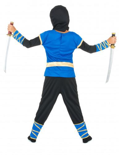 Blau-schwarzes Ninja-Kostüm-2