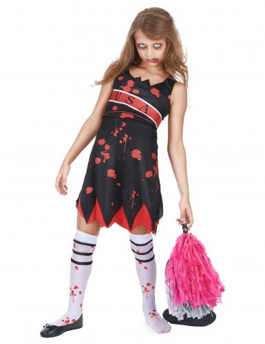 Zombie Cheerleader Kostüm für Mädchen-1