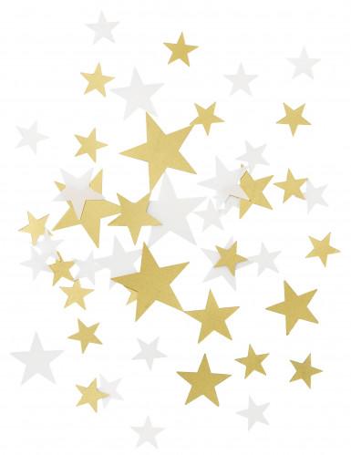 Sternenkonfetti in weiß und gold