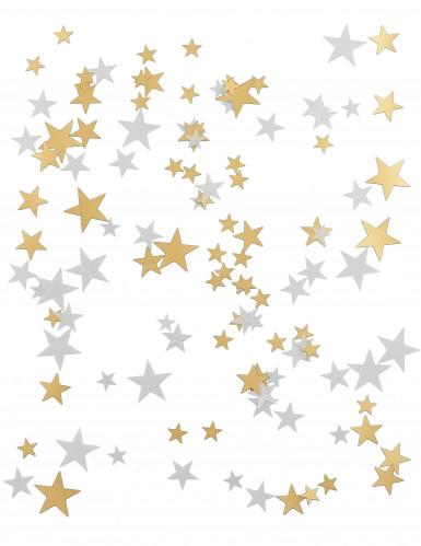 Sternenkonfetti in weiß und gold-1