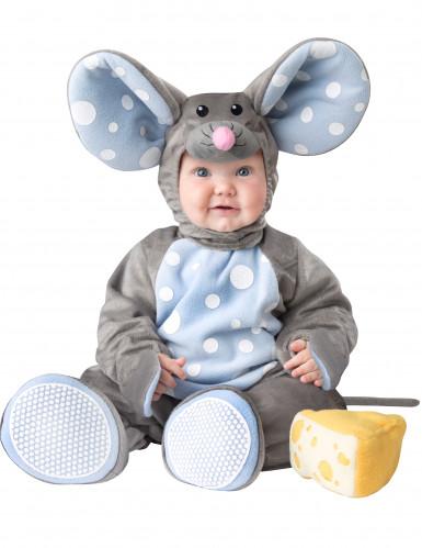 Graues Deluxe Maus-Kostüm für Babys