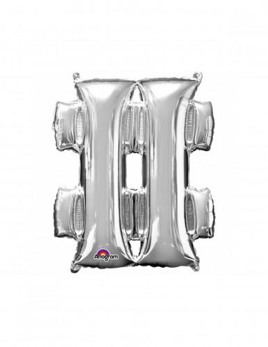 Aluminium-Ballon Symbol # silber 33 cm