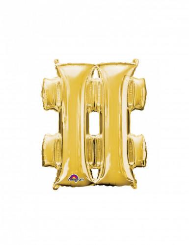 Aluminium-Ballon Symbol # goldfarben 33 cm