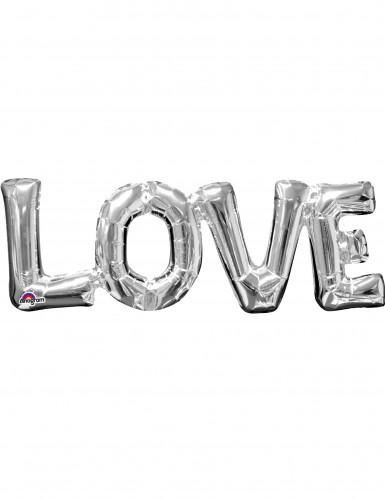 Silberner Folienballon Liebe
