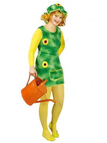 Gärtnerin Kostüm mit Sonnenblumen für Damen