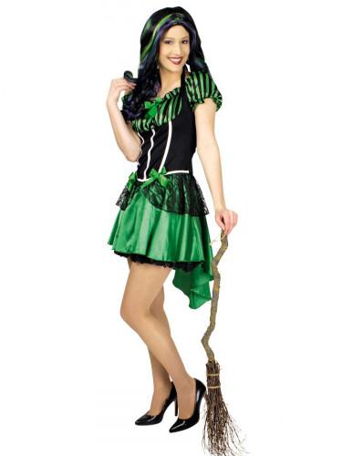 Grünes Hexenkostüm für Damen