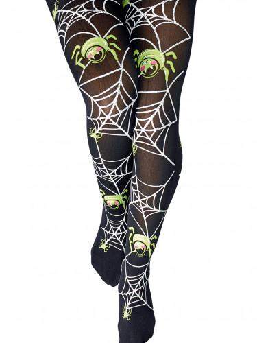 Leuchtende Spinnen-Strumpfhose für Damen