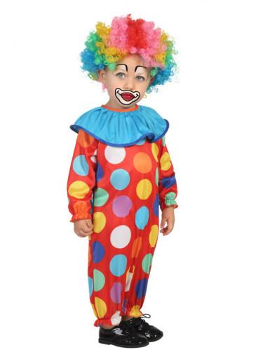 Clown Kostüm für Kleinkinder bunt