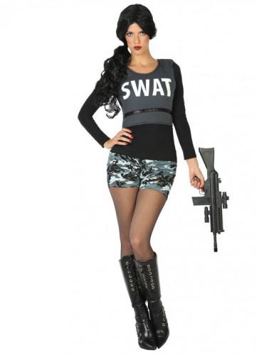 Kostüm SWAT Soldat für Damen M / L