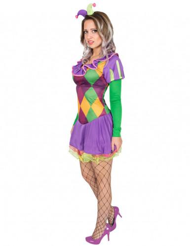 Harlekin-Kostüm für Damen violett-1