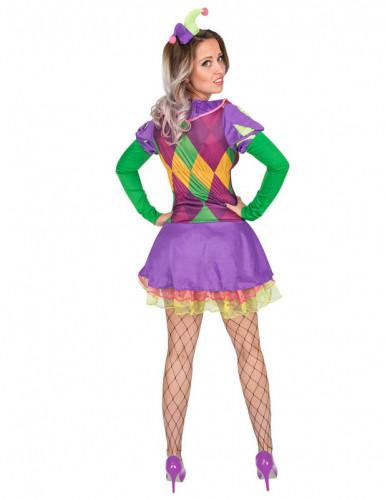 Harlekin-Kostüm für Damen violett-2