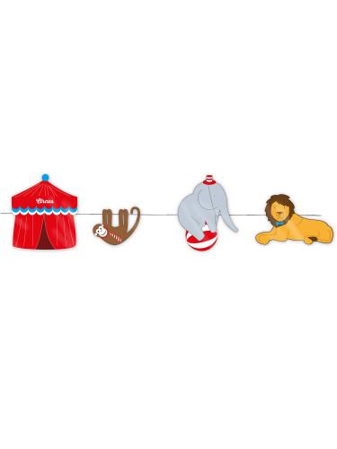 Zirkus-Girlande - die fröhliche Geburtstagsdeko